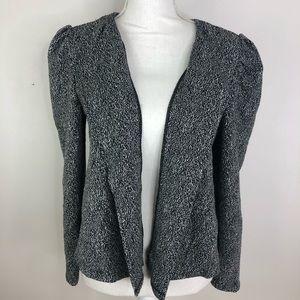 14th & Union Knit Blazer, marled puff shoulders